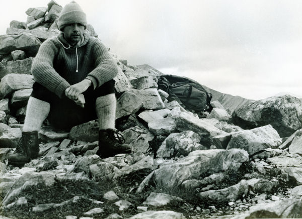 Mamores - seated at cairn